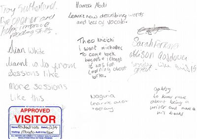 Historical novelist Michael Wills on running Creative Writing workshops in schools...