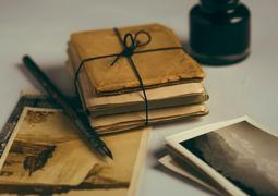 vintage paper bundle gift