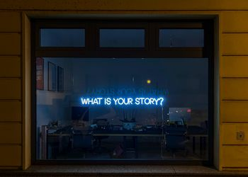 What is your story - sign