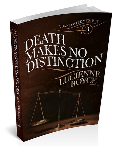 Book cover for 'Death Makes No Distinction' by Lucienne Boyce
