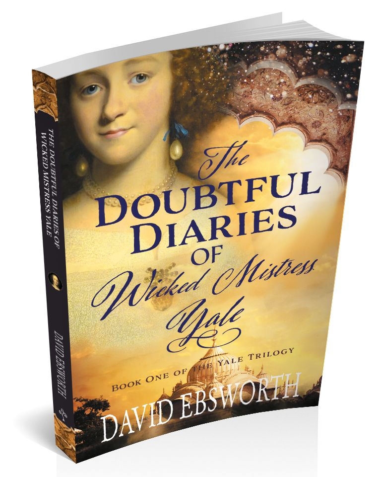 Book cover for 'The Doubtful Diaries of Wicked Mistress Yale' by David Ebsworth