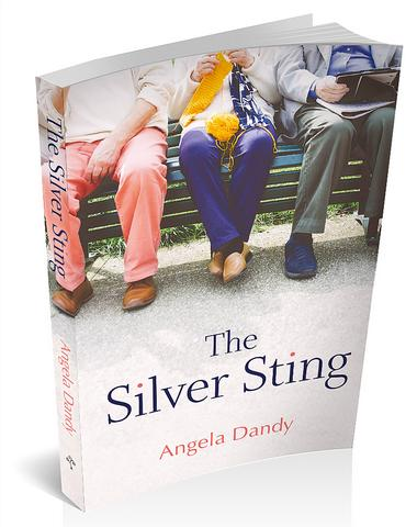 3D book cover for The Silver Sting by Angela Dandy