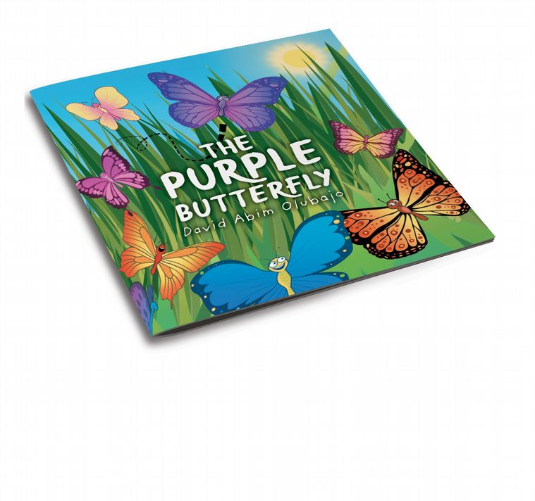 3d cover image for The Purple Butterfly by David Abim Olubajo