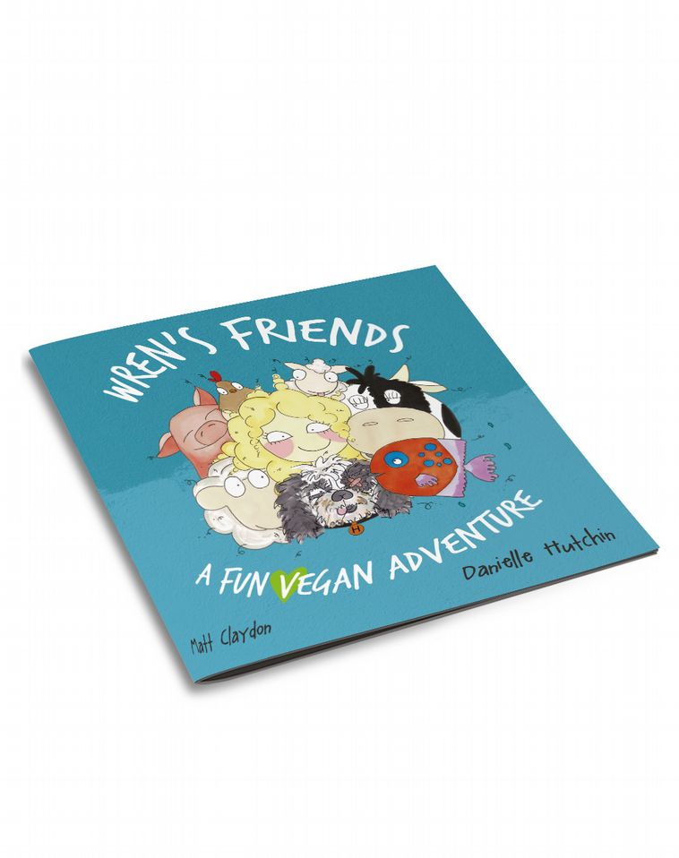 3D book cover for Wren's Friends by Matt Claydon