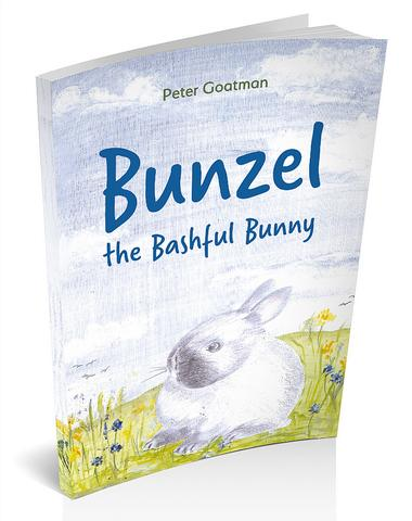 3D book cover image for Bunzel the Bashful Bunny by Peter Goatman