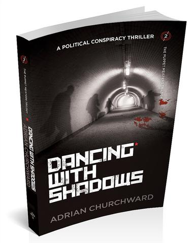 3d cover for dancing with shadows by Adrian Churchward