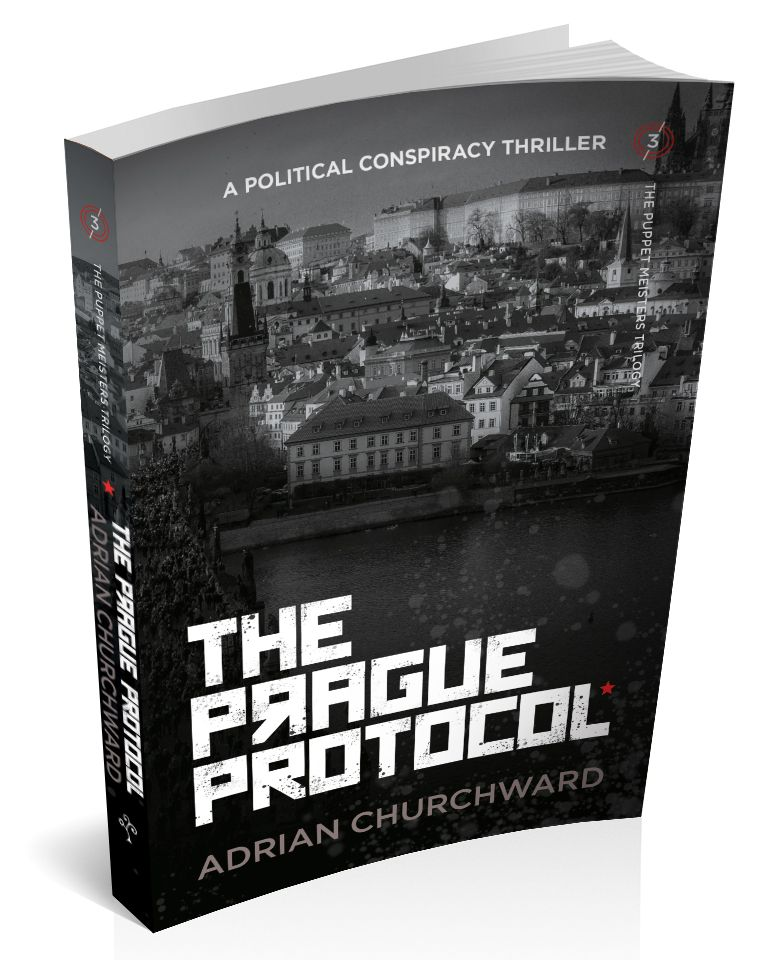 3d cover image for the prague protocol by Adrian Churchward