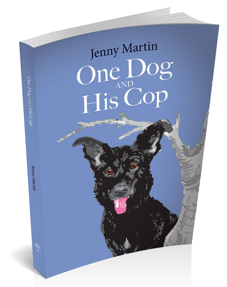 3d cover image for one dog and his cop by Jenny Martin