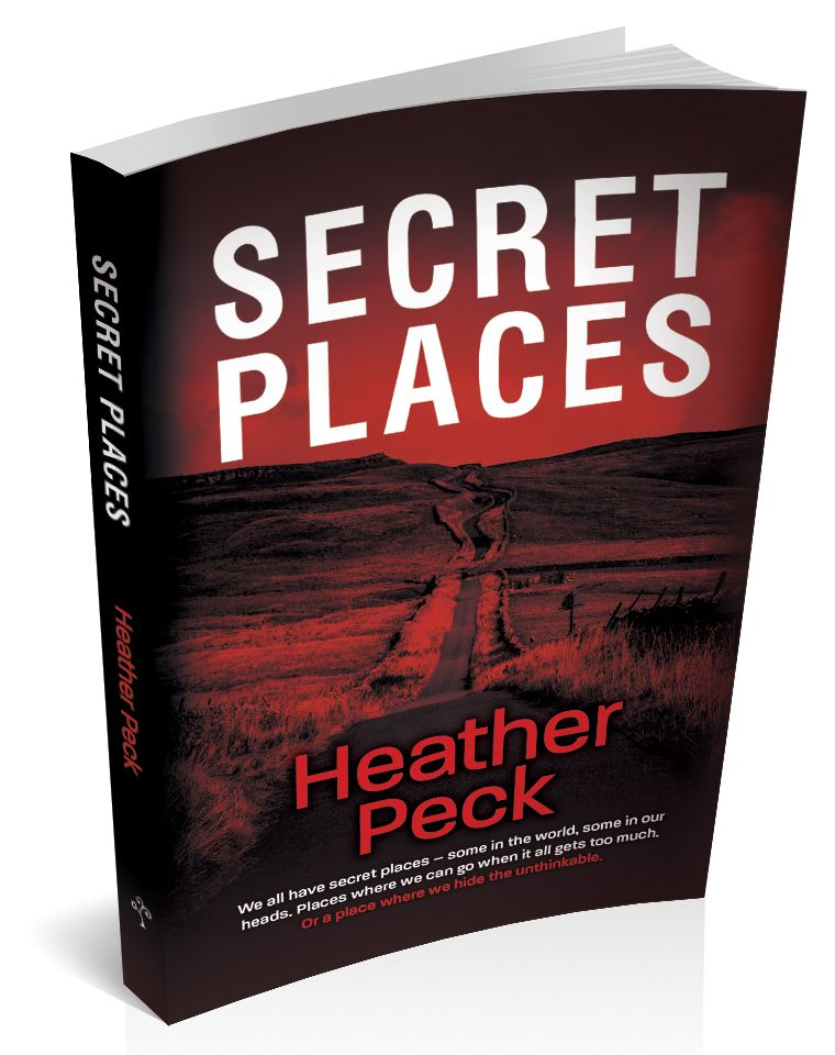 3d book cover for secret places by heather peck
