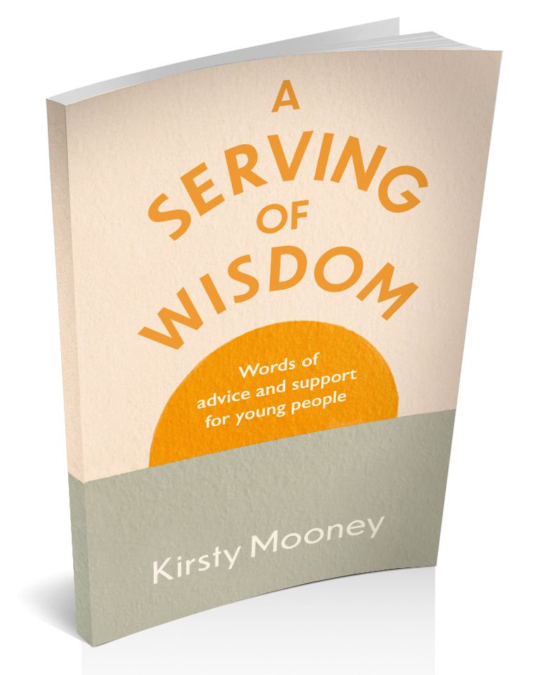 3D book cover image for A Serving of Wisdom by Kirsty Mooney