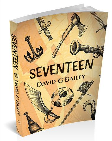 3D book cover image for 'Seventeen' by David G Bailey